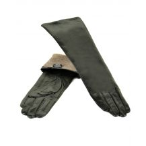 Перчатка Женская кожа F25/17 40см мод2 black шерсть