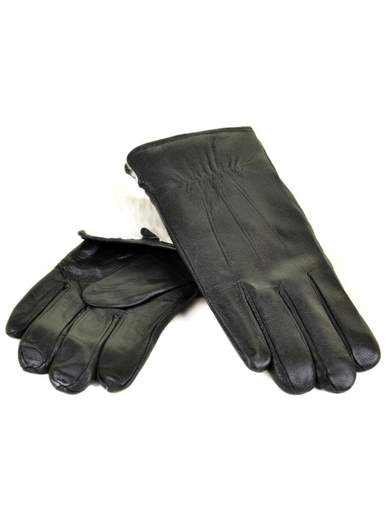 Перчатка Мужская кожа M23-18 мод1 black кролик