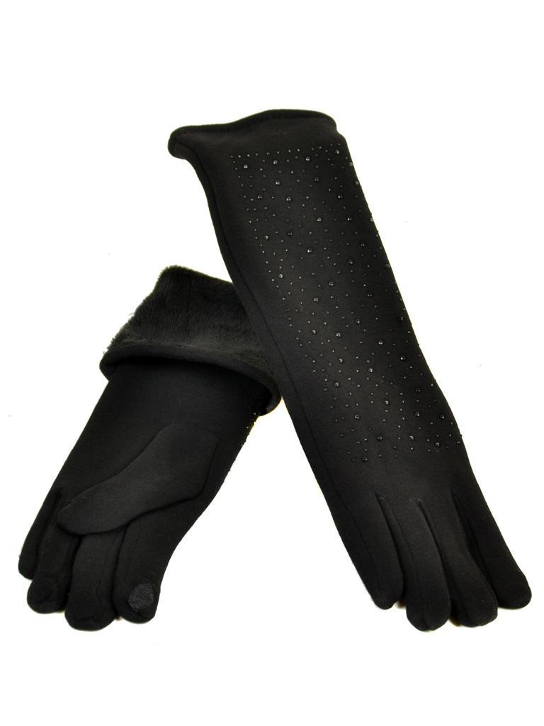 Перчатка Женская стрейч F16/2/17 мод1 black сенсор