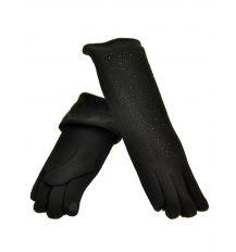 Перчатка Женская стрейч F16/2/17 мод1 black длинная сенсор