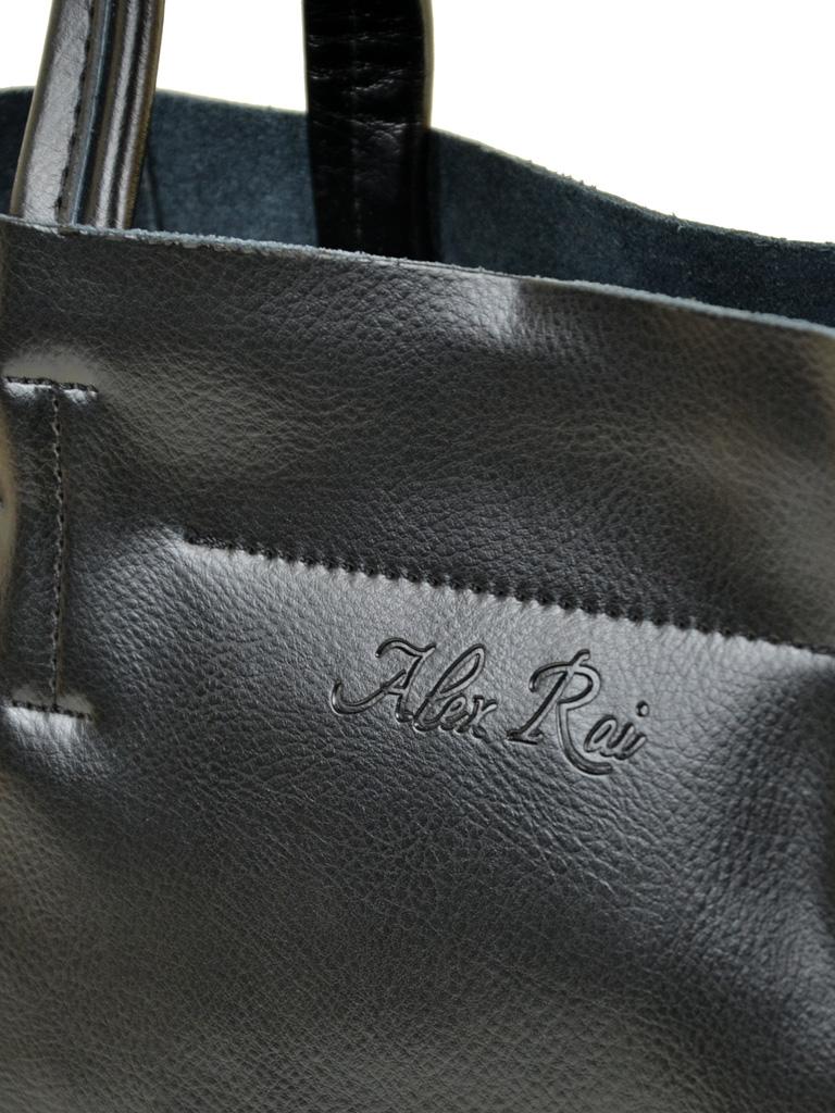 Сумка Женская Классическая кожа ALEX RAI 10-03 J003 black - фото 3