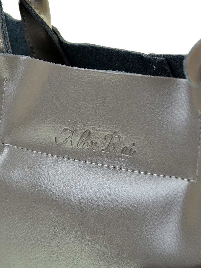 Сумка Женская Классическая кожа ALEX RAI 10-03 8546 grey - фото 3