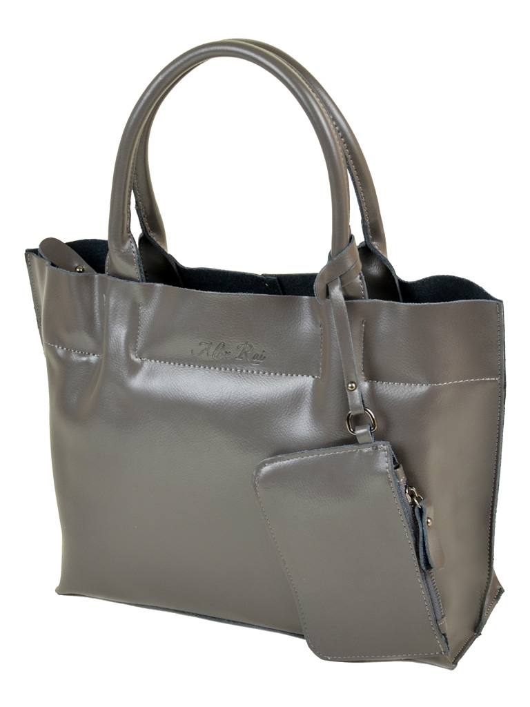 Сумка Женская Классическая кожа ALEX RAI 10-03 8546 grey