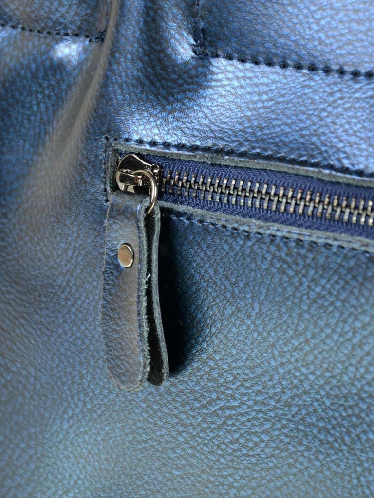 Сумка Женская Классическая кожа ALEX RAI 10-03 8546 blue - фото 4