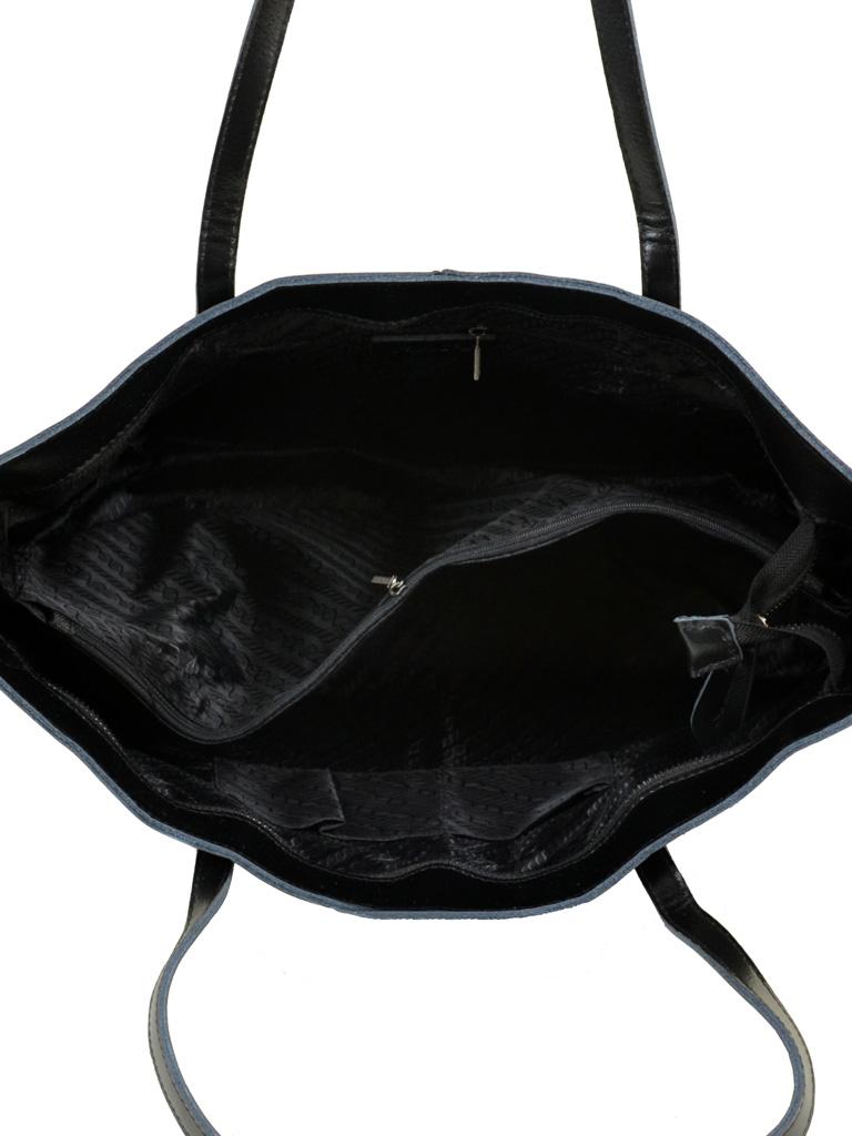 Сумка Женская Классическая кожа ALEX RAI 10-03 8129 black - фото 5