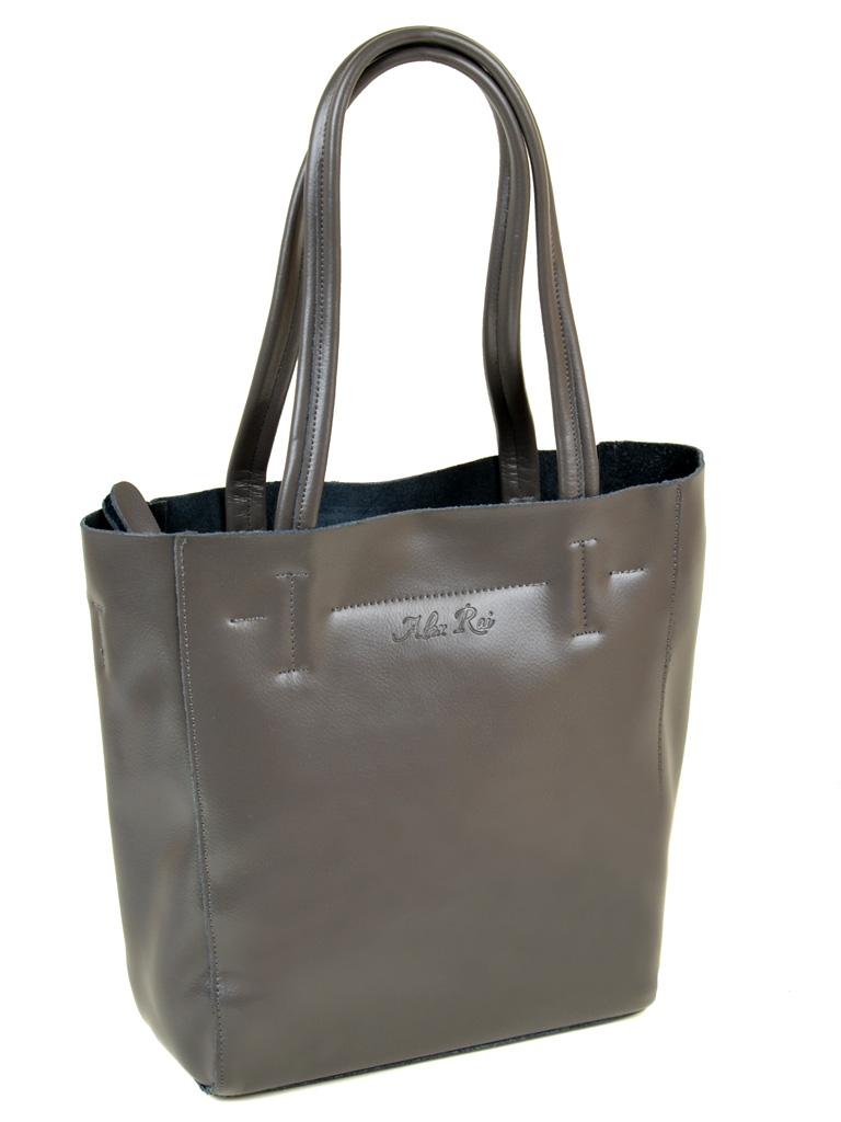 Сумка Женская Классическая кожа ALEX RAI 10-03 J003 grey