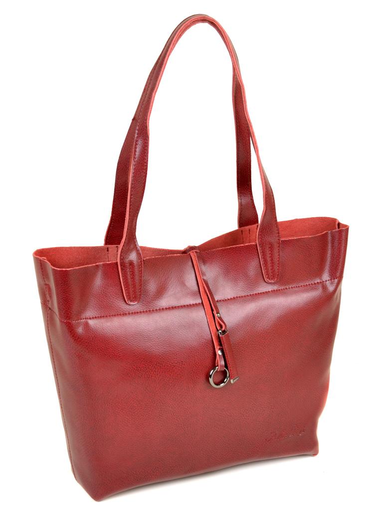 Сумка Женская Классическая кожа ALEX RAI 10-03 J002 wine-red