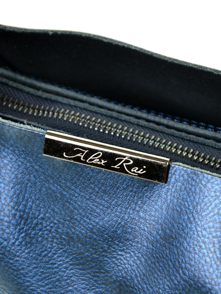 Сумка Женская Классическая кожа ALEX RAI 10-03 8622 pearl-blue