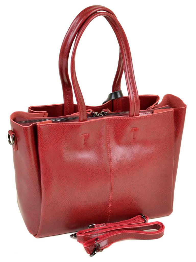 Сумка Женская Классическая кожа ALEX RAI 10-03 8682 colored-red
