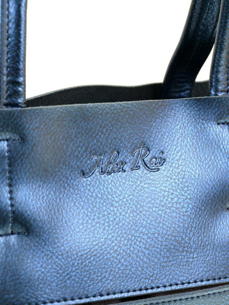 Сумка Женская Классическая кожа ALEX RAI 10-03 8650 blue - фото 3