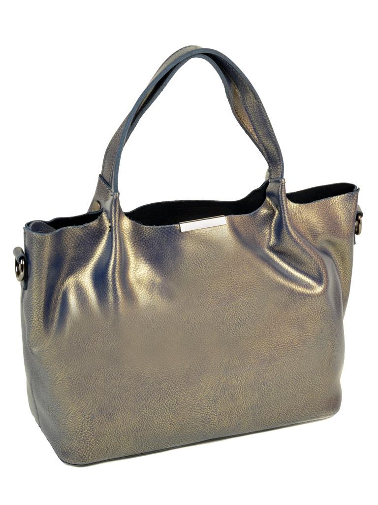 Сумка Женская Классическая кожа ALEX RAI 10-03 8622 grey-gold