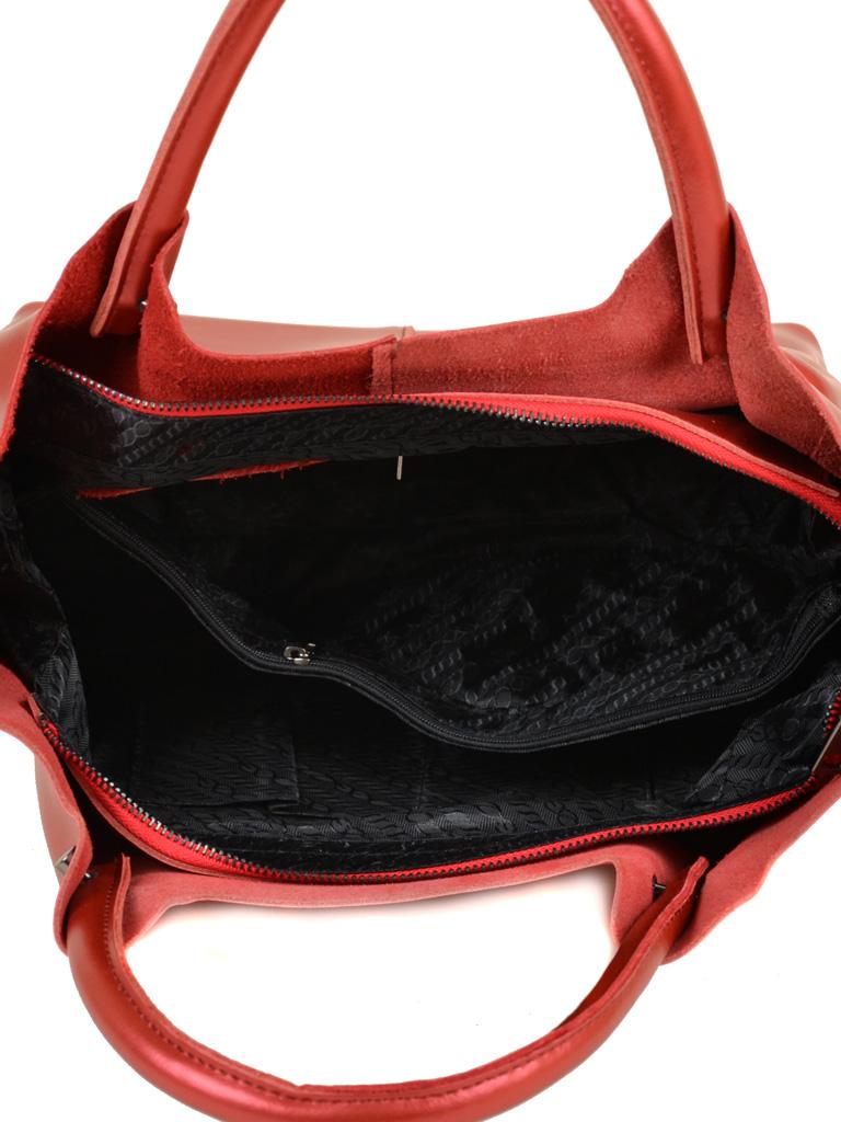 Сумка Женская Классическая кожа ALEX RAI 10-03 8649-2 bright-red - фото 5