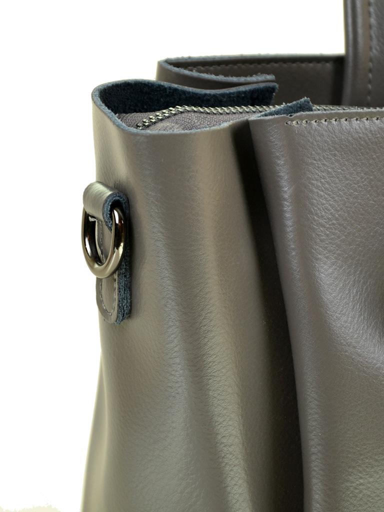 Сумка Женская Классическая кожа ALEX RAI 10-03 8682 grey - фото 3