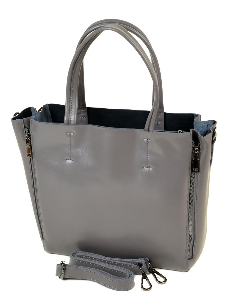 Сумка Женская Классическая кожа ALEX RAI 10-03 8650 grey