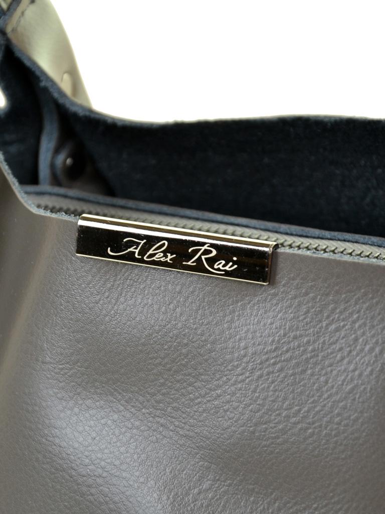 Сумка Женская Классическая кожа ALEX RAI 10-03 8622 grey