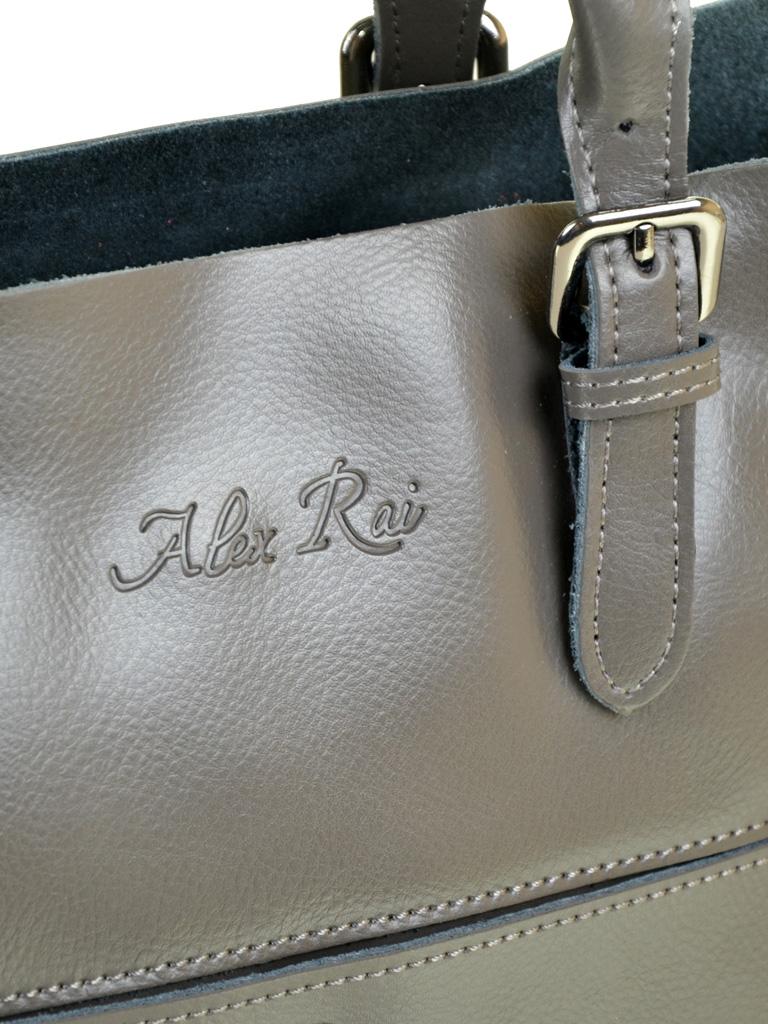 Сумка Женская Классическая кожа ALEX RAI 10-04 8223 grey - фото 3