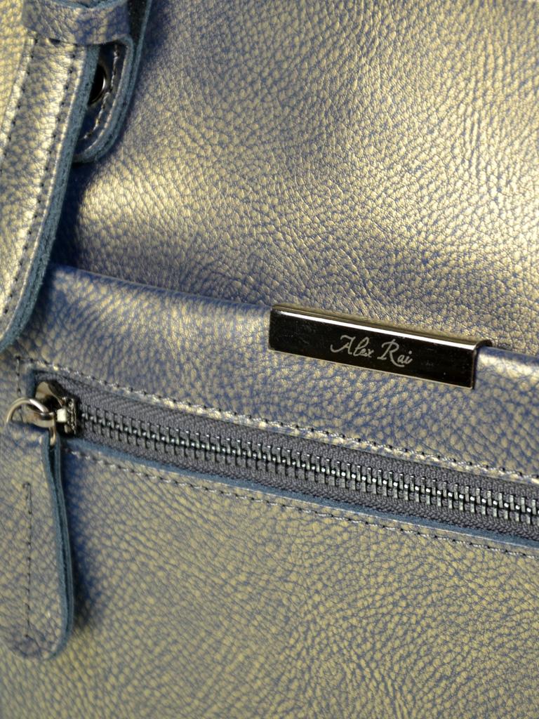 Сумка Женская Классическая кожа ALEX RAI 10-04 8222 pearlscent-grey-gold