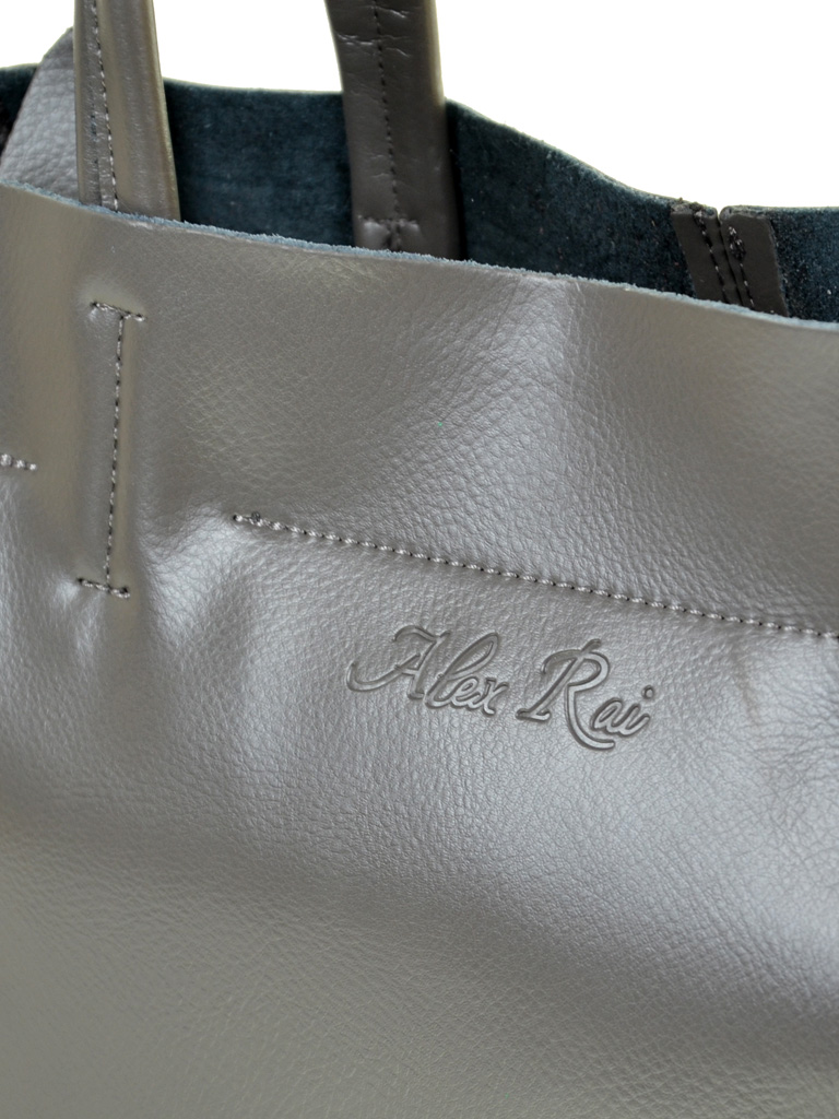 Сумка Женская Классическая кожа ALEX RAI 10-04 8630 grey - фото 3