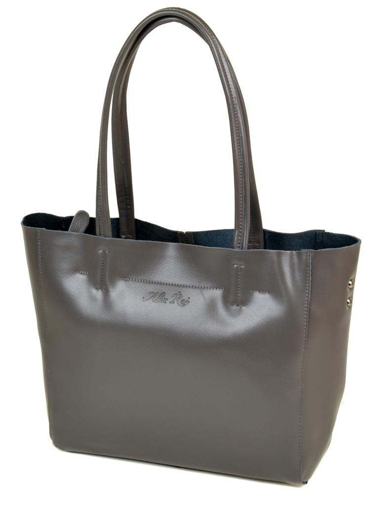 Сумка Женская Классическая кожа ALEX RAI 10-04 8630 grey