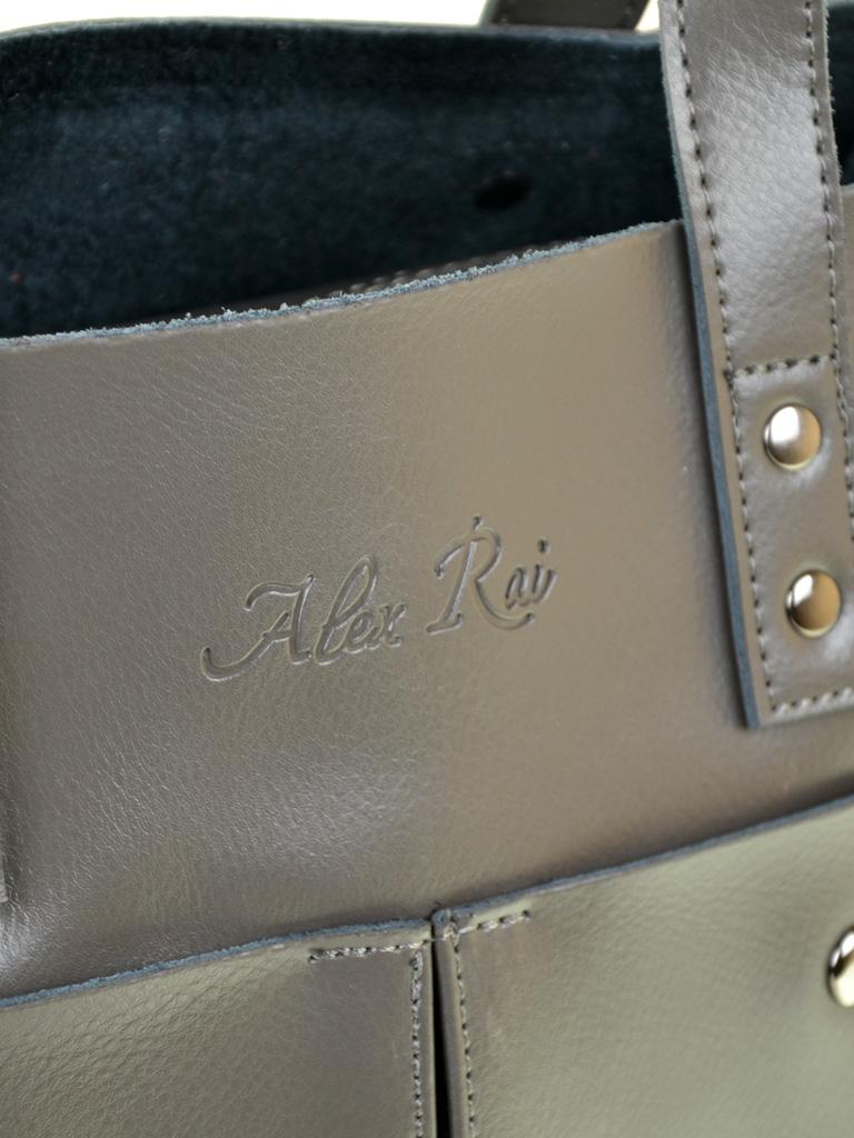 Сумка Женская Классическая кожа ALEX RAI 10-04 8713 grey
