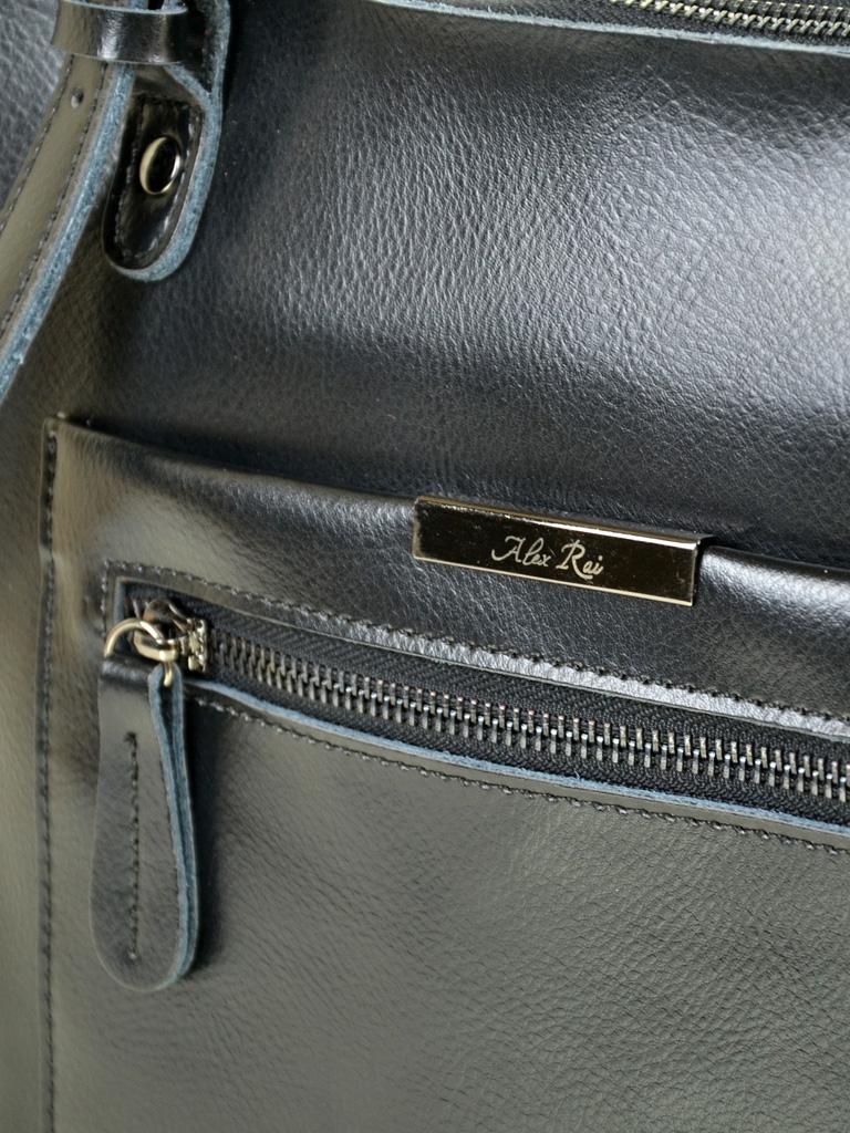 Сумка Женская Классическая кожа ALEX RAI 10-04 8222 black - фото 3
