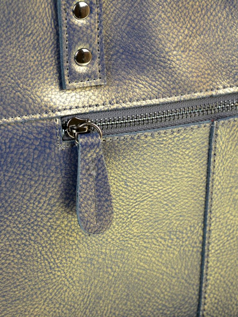 Сумка Женская Классическая кожа ALEX RAI 10-04 8713 grey-gold - фото 4