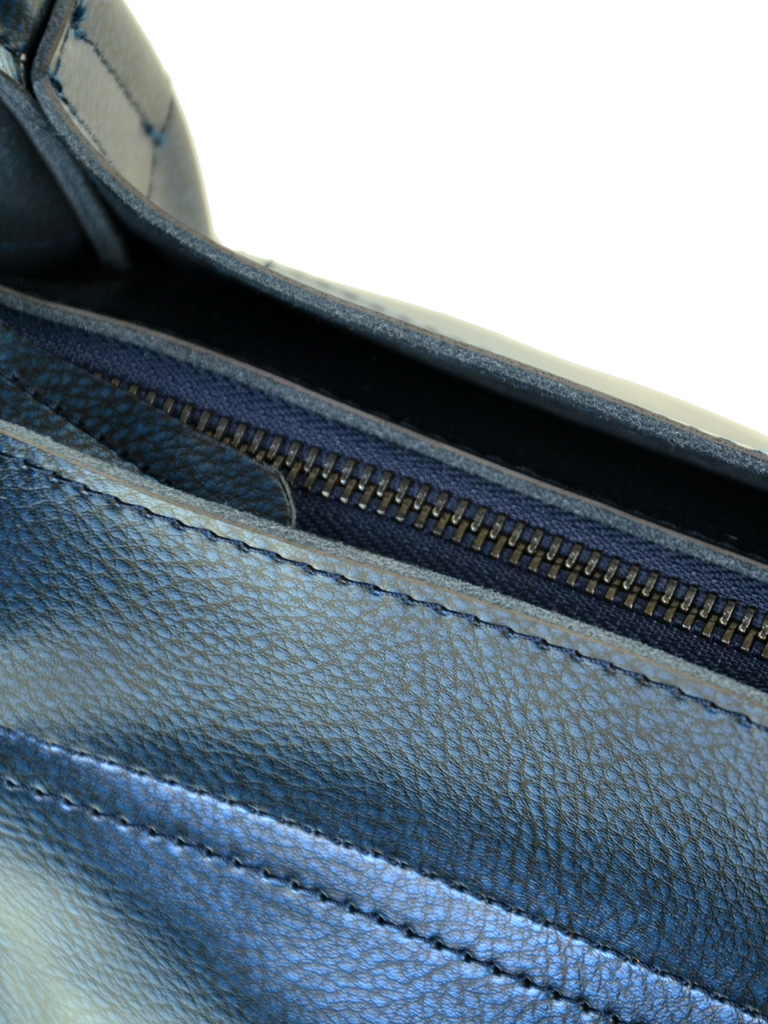 Сумка Женская Классическая кожа ALEX RAI 10-04 8903 bright-blue - фото 3