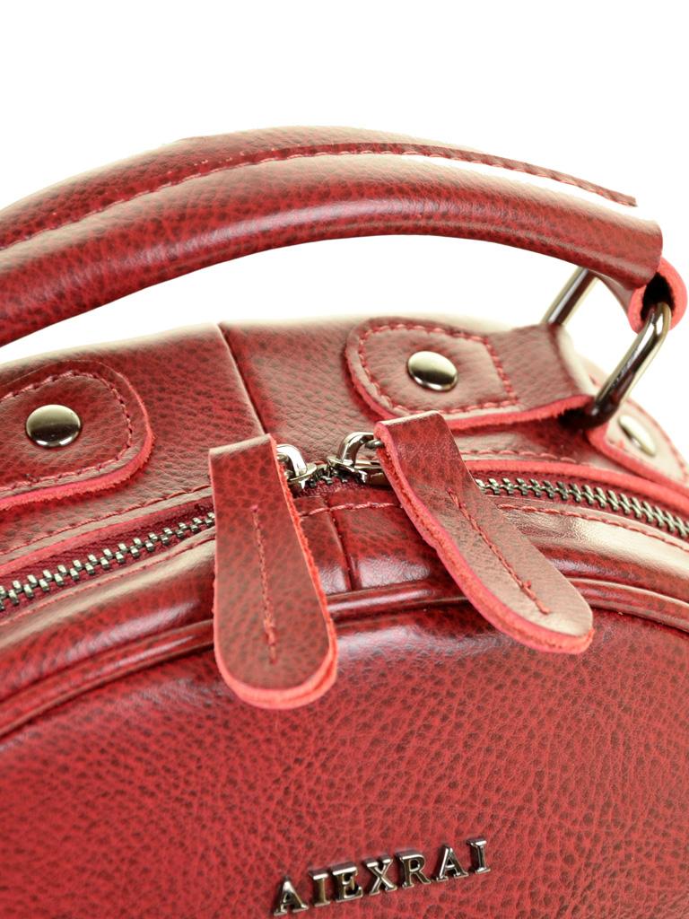 Сумка Женская Рюкзак кожа ALEX RAI 10-04 8715 bright-red - фото 3