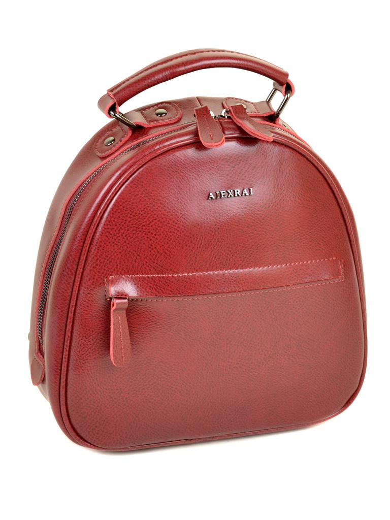 Сумка Женская Рюкзак кожа ALEX RAI 10-04 8715 bright-red