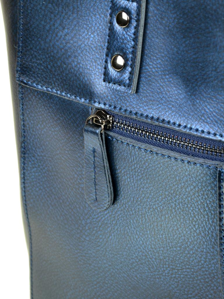 Сумка Женская Классическая кожа ALEX RAI 10-04 8713 chromatic-blue - фото 4