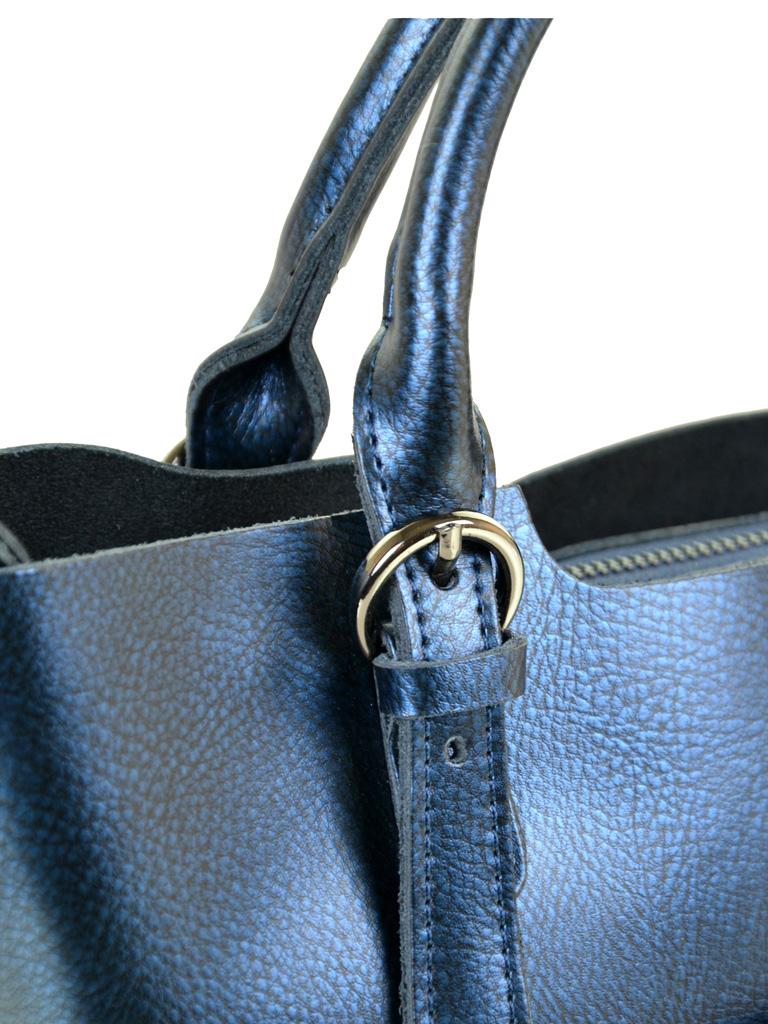 Сумка Женская Классическая кожа ALEX RAI 10-04 8222 chromatic-blue - фото 3