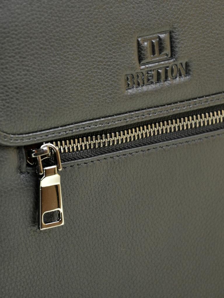 Сумка Мужская Планшет кожаный BRETTON BE 9027-5 black - фото 3
