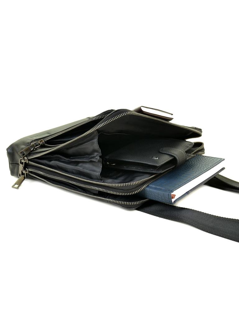Сумка Мужская Планшет кожаный BRETTON BE 3563-3 black - фото 5