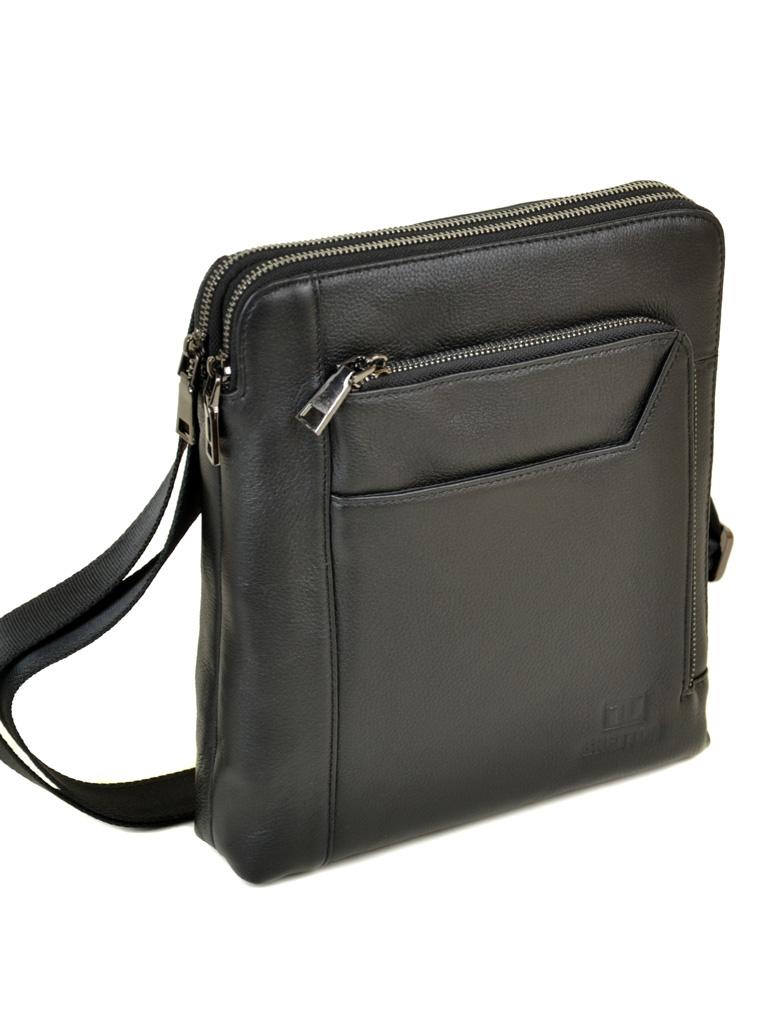 Сумка Мужская Планшет кожаный BRETTON BE 3563-3 black
