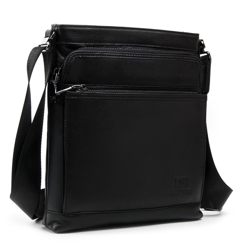 Сумка Мужская Планшет кожаный BRETTON BE 5446-3 black