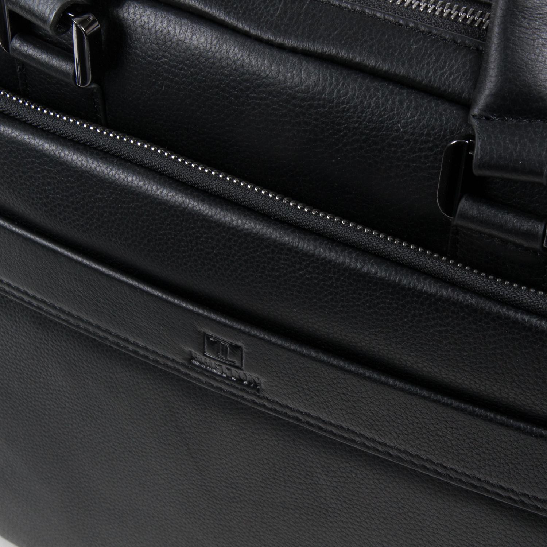 Сумка Мужская Портфель кожаный BRETTON BE 1603-1 black - фото 3