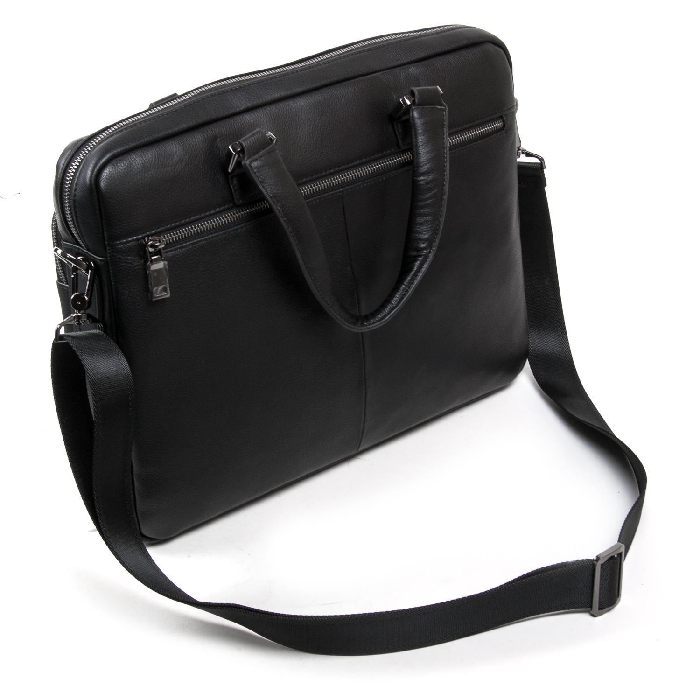 Сумка Мужская Портфель кожаный BRETTON BE 1603-1 black - фото 4