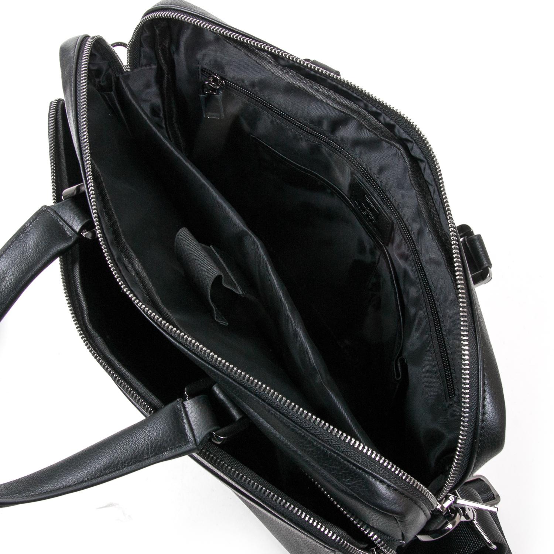 Сумка Мужская Портфель кожаный BRETTON BE 1603-1 black - фото 5