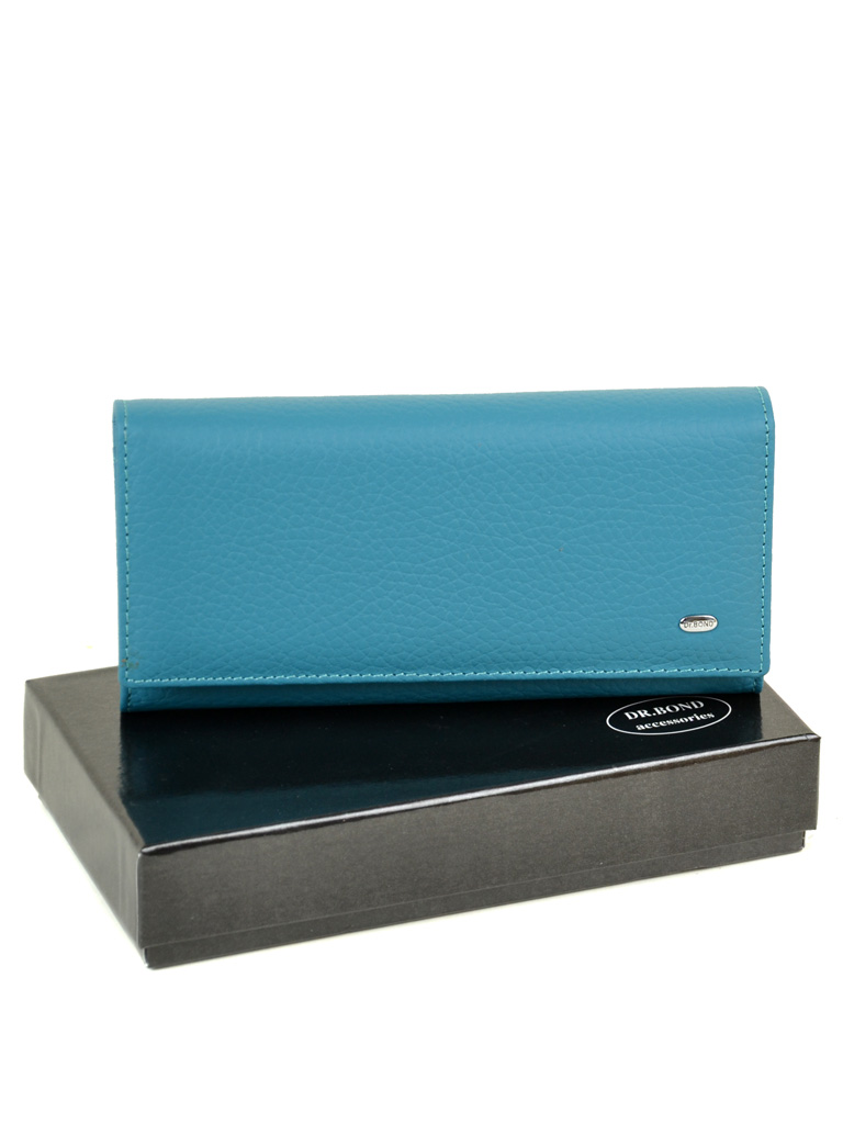 Кошелек Classic кожа DR. BOND W807 l-blue