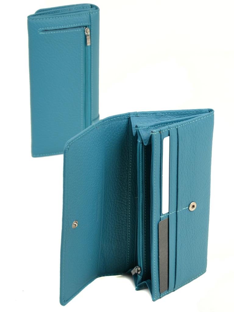 Кошелек Classic кожа DR. BOND WS-1 l-blue - фото 4