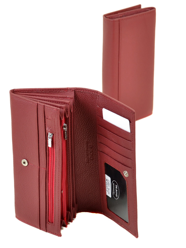 Кошелек Classic кожа DR. BOND W807 scarlet - фото 4