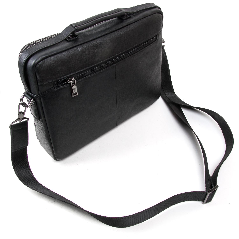 Сумка Мужская Портфель кожаный BRETTON BE 3492-8 black - фото 4