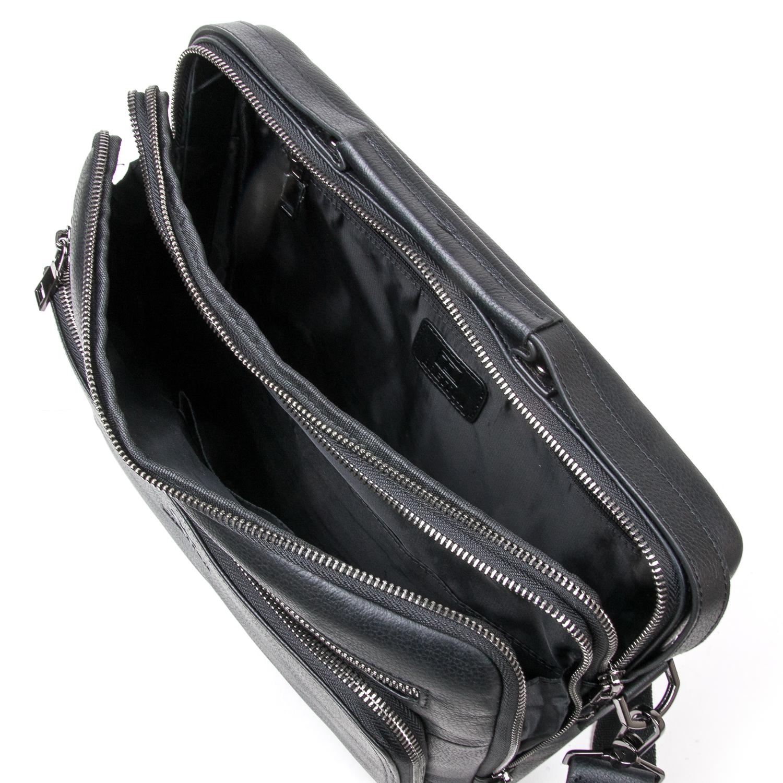 Сумка Мужская Портфель кожаный BRETTON BE 3492-8 black - фото 5