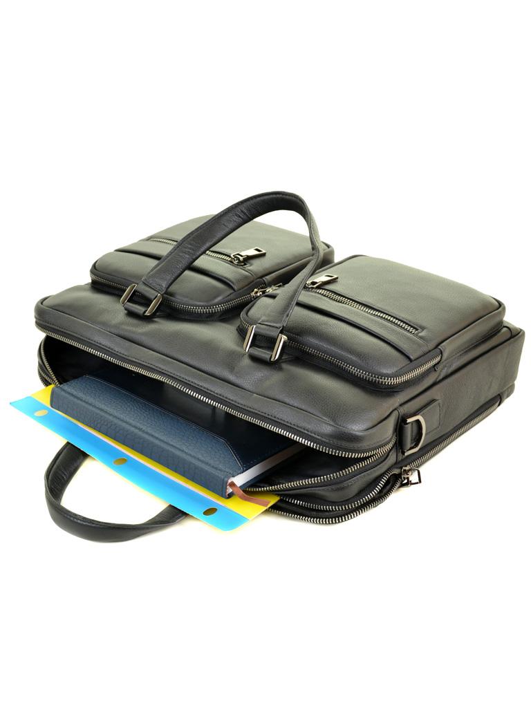Сумка Мужская Портфель кожаный BRETTON BE 5359-1 black - фото 5