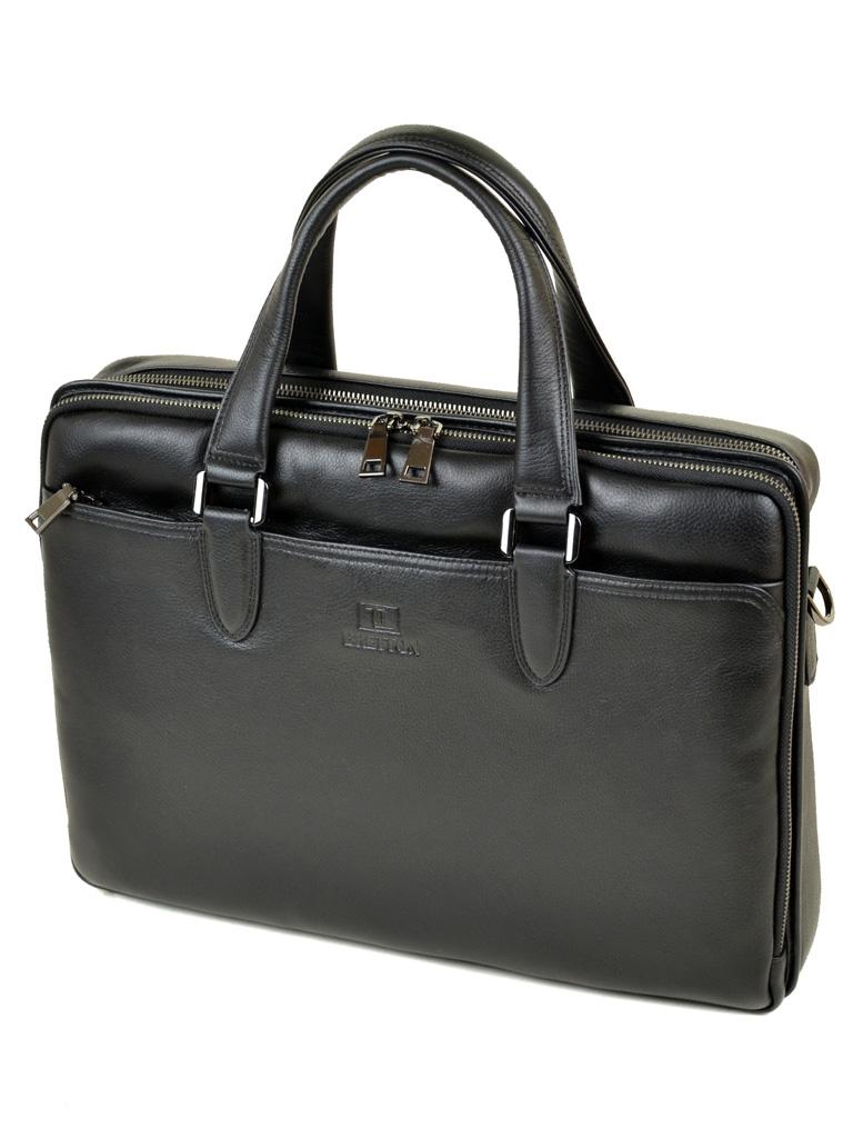Сумка Мужская Портфель кожаный BRETTON BE 411-1 black