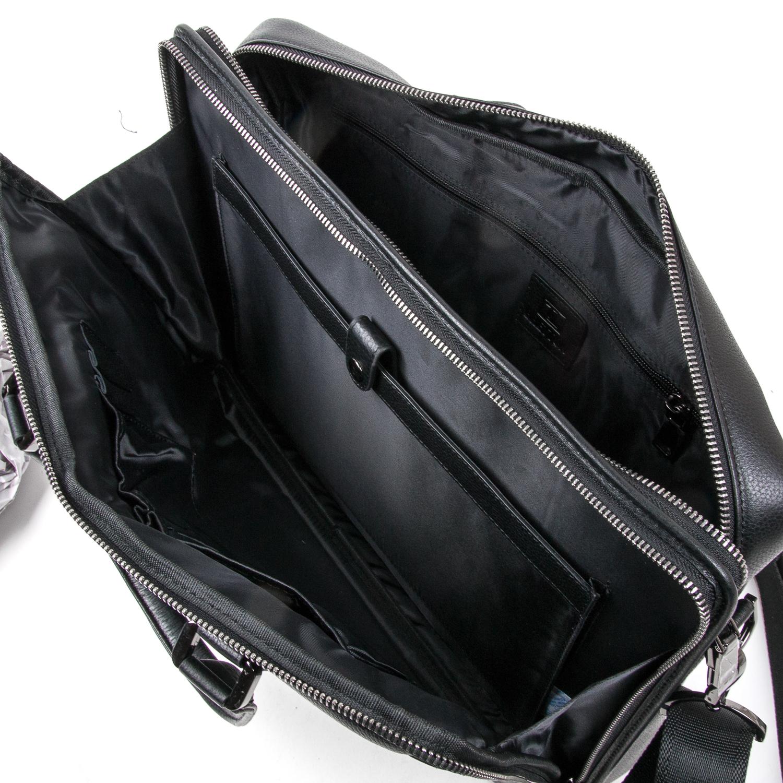 Сумка Мужская Портфель кожаный BRETTON BE 411-1 black - фото 5