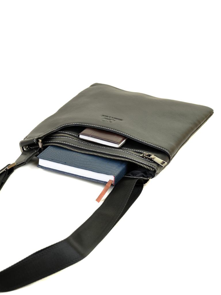 Сумка Мужская Планшет кожаный BRETTON BE 3504-6 black - фото 5