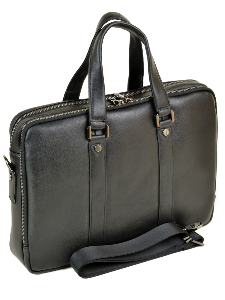 Сумка Мужская Портфель кожаный BRETTON BE 9318-2 black - фото 4