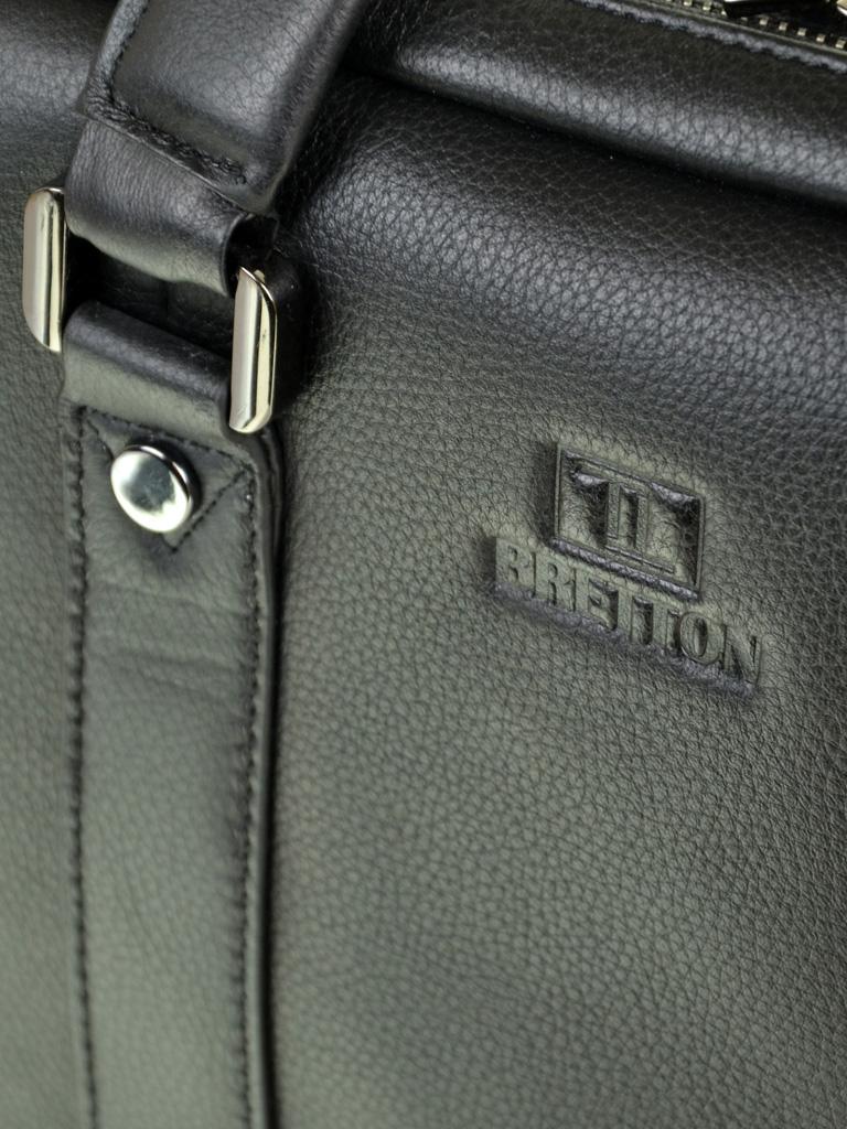 Сумка Мужская Портфель кожаный BRETTON BE 9318-2 black - фото 3