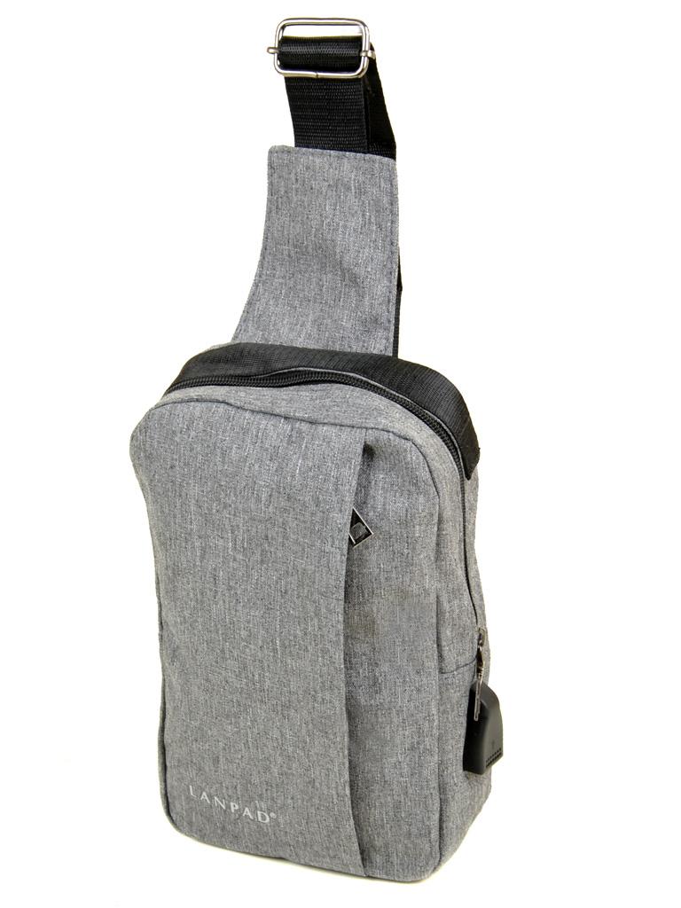 Сумка Мужская На Плечо нейлон Lanpad 815-1 grey